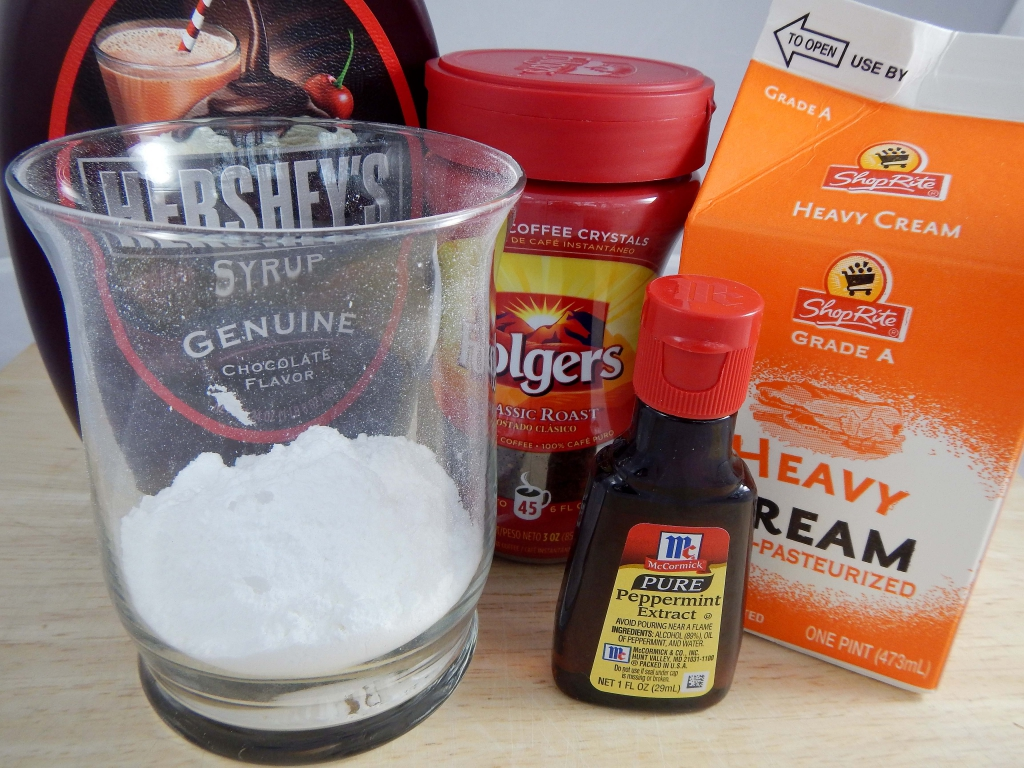 Peppermint Mocha Latte Frosting Ingredients