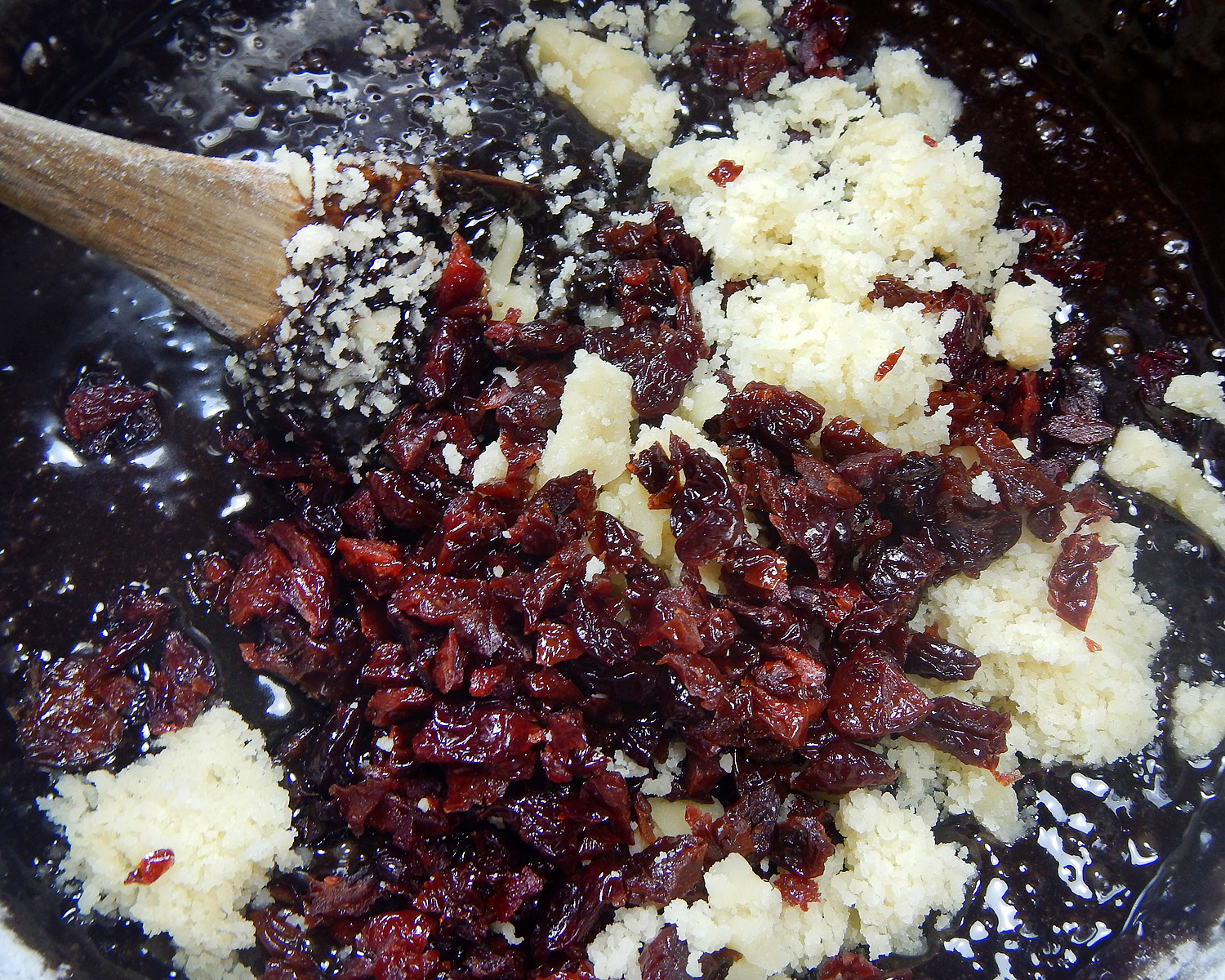 Dried Cherries and Almond Paste