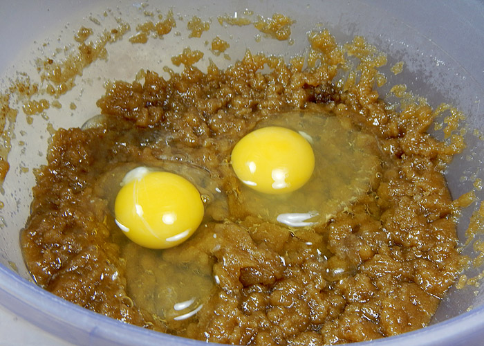 Two Eggs in Sugar Mixture
