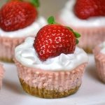 Skinny Mini Strawberry Cheesecakes
