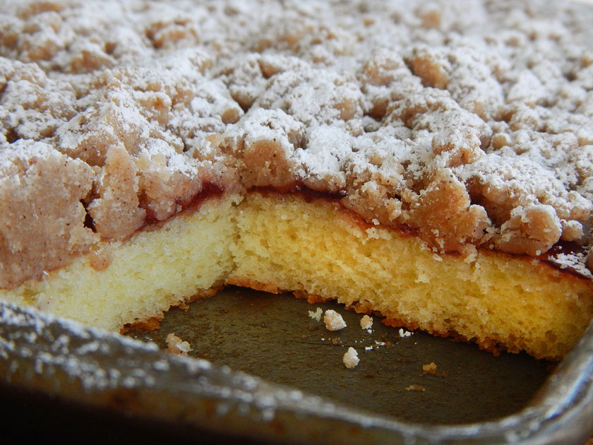 Crumb Cake in a Pan