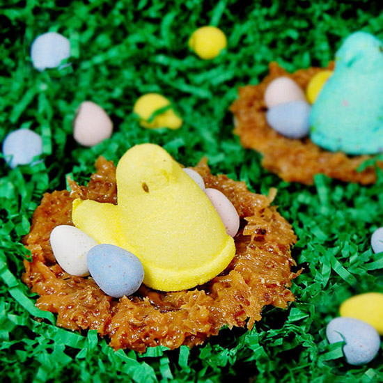 Coconut Caramel Truffle Peeps' Nests | Frosting and a Smile