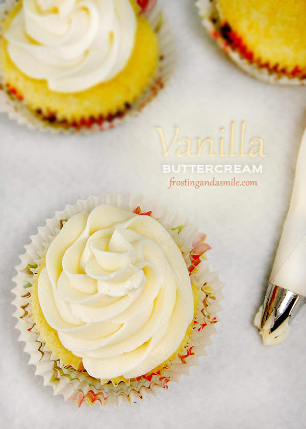 Vanilla Buttercream Frosting | Frosting and a Smile