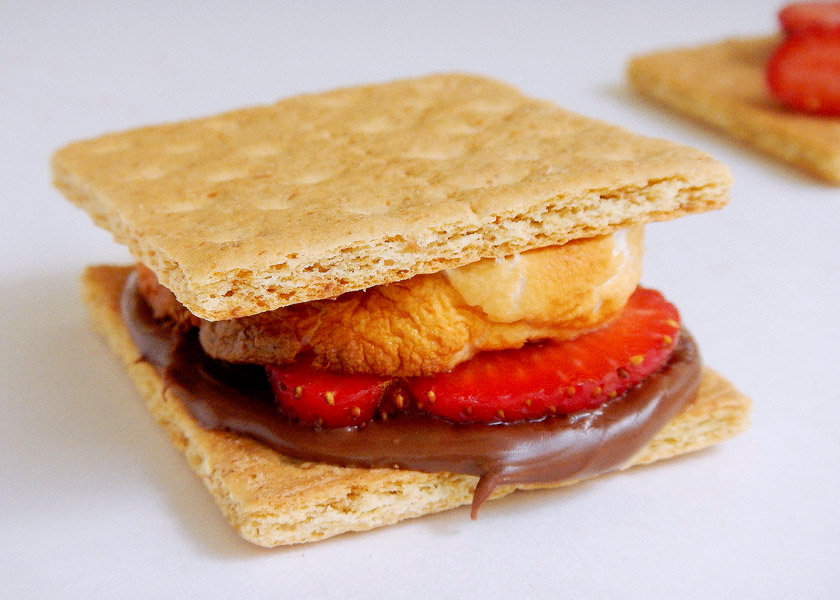 Strawberry Nutella S'mores