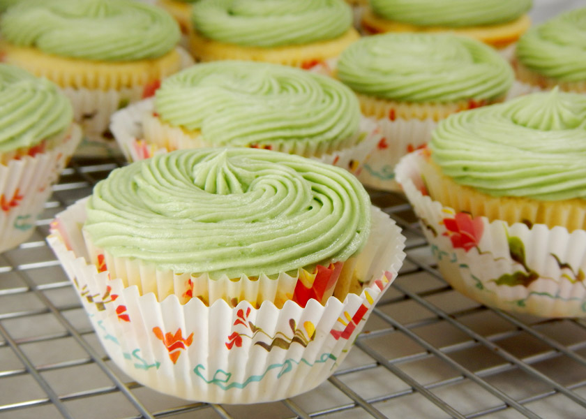 Cupcakes with Green Frosting