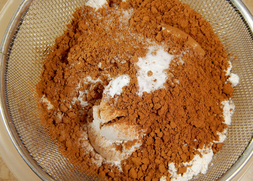 Dry Ingredients for Chocolate Cookies