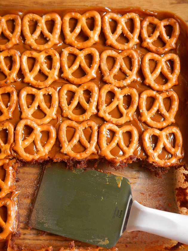 Caramel Pretzel Brownies
