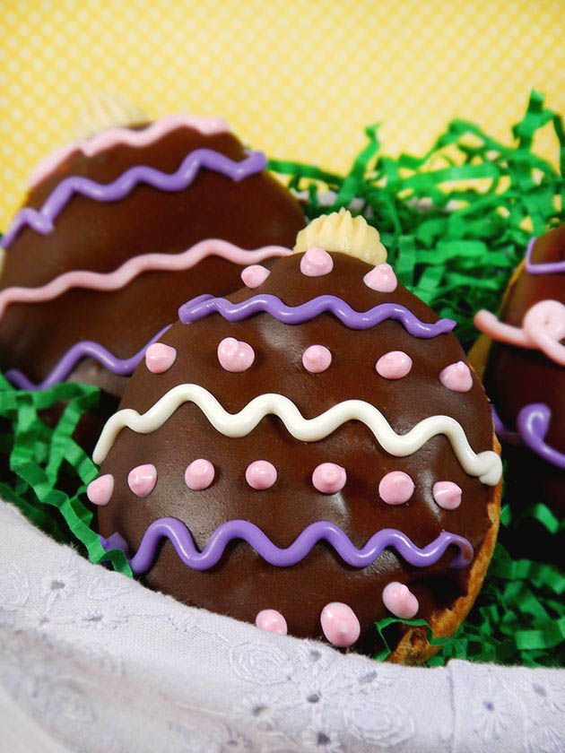 Easter Egg Eclairs