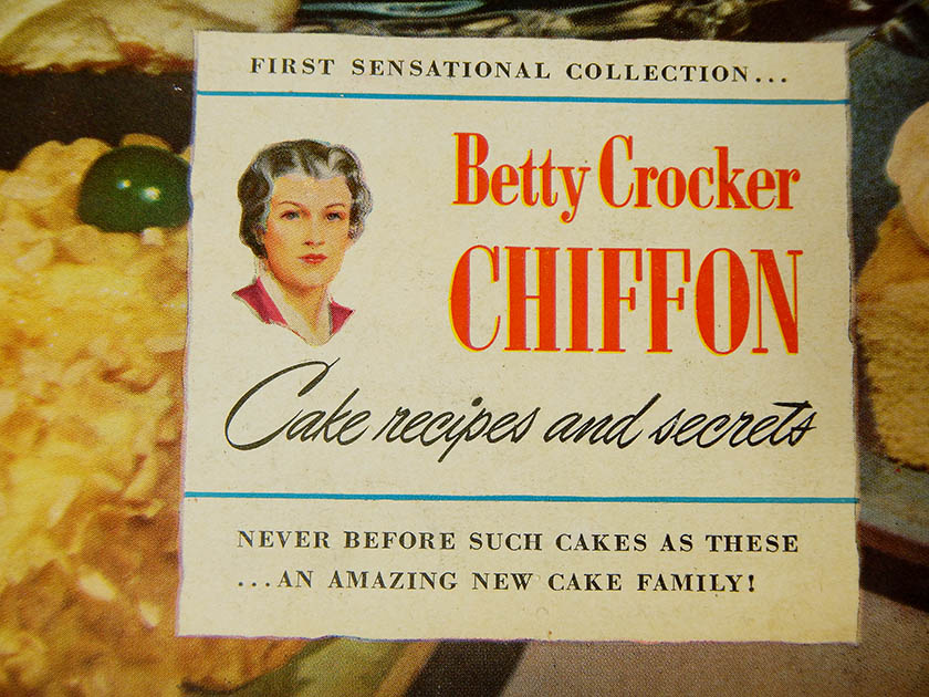 Cover of Betty Crocker Chiffon Cake Recipes and Secrets