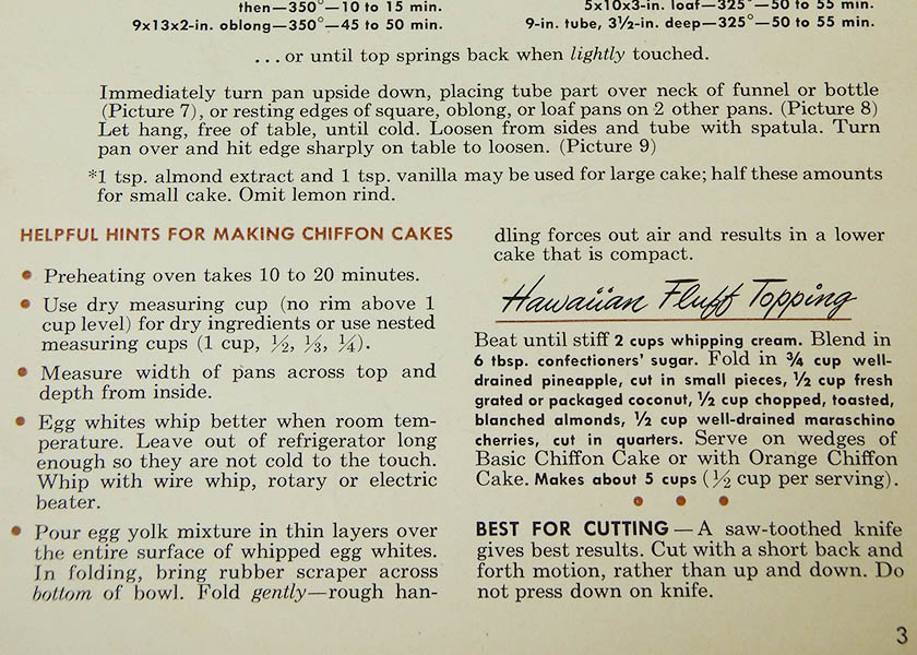 Excerpt from Vintage Betty Crocker Chiffon Cake Cookbook