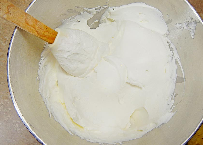 A bowl of whipped cream