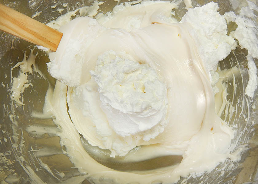 Folding Whipped Cream and Cream Cheese