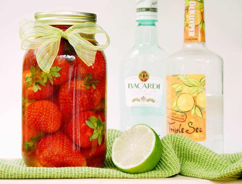 Strawberries, Bacardi, Triple Sec, Lime